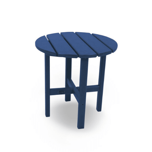 """Round 18"""" Outdoor Side Table - Navy"""