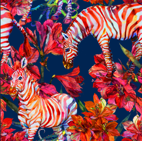 Zebra Safari Temporary Wallpaper - a SmithHönig Exclusive