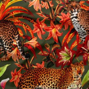 Big Cats Velvet Fabric - Exclusively by SmithHönig