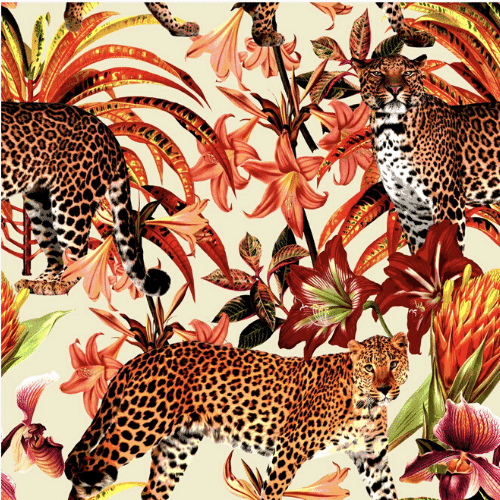 Leopard Peel and Stick Wallpaper - a SmithHönig Exclusive