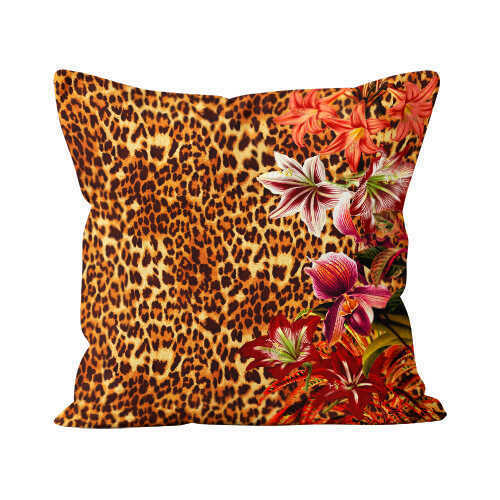 Hot Tropic / Pantera Beau Velvet Suede Pillow