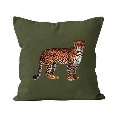 Solitude/ Pantera Forest / Right Facing Velvet Suede Pillow