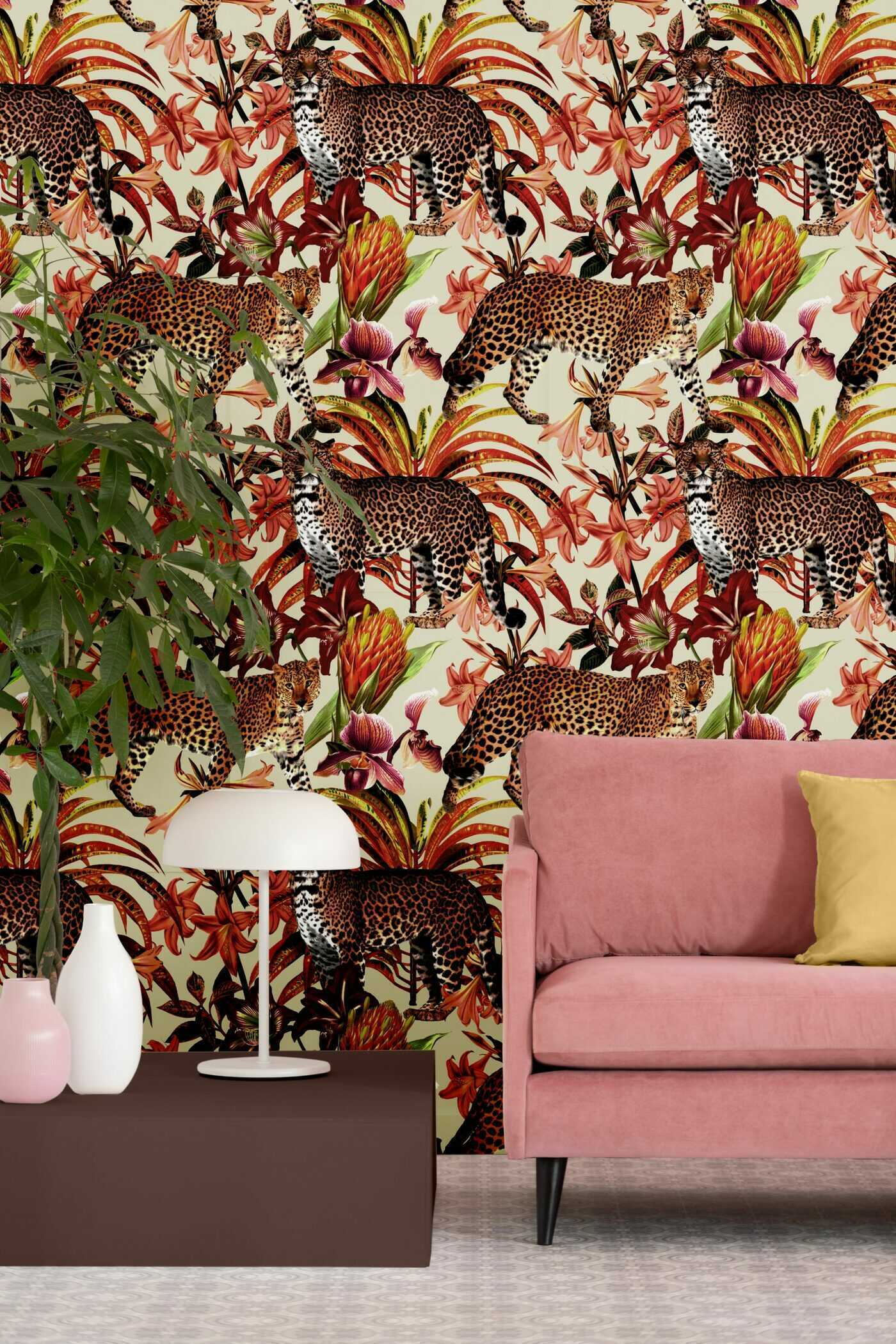 Meet Pantera. He's strong, sexy and part of our new take on animal prints. Our newest line of fabrics, wallpaper and trim come in three debut colorways and feature a large stalking leopard, named Pantera, of course.