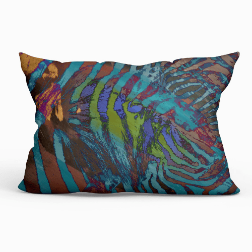 Lumbar Indoor Throw Pillow - African Paint