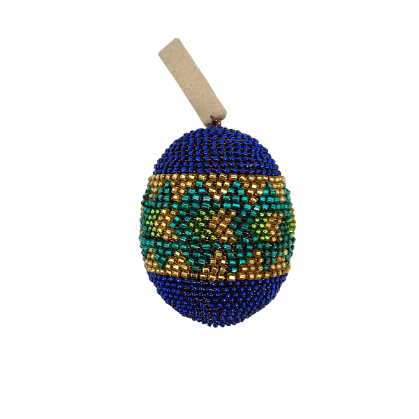 African Beaded Egg Ornament