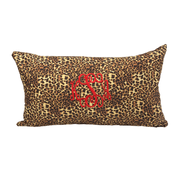 The Monogrammed Leo Pillow
