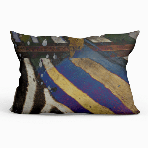 Lumbar Outdoor Throw Pillow - Sebra Stripe