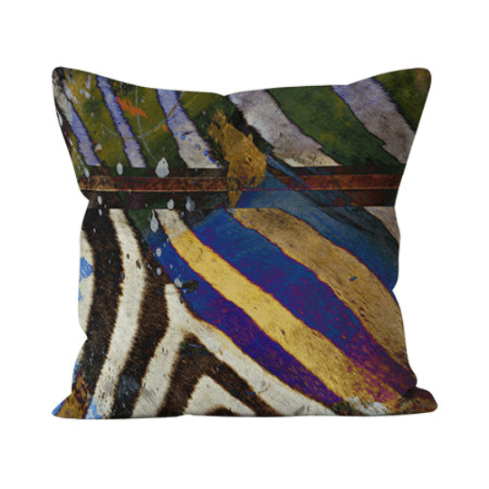 The Sebra Stripe animal print throw pillow is our best-selling pillow and for good reason. With its modern animal print pattern and use of balanced colors, the Sebra Stripe pillow begs the question, why not get wild? Animal print is a neutral after all.