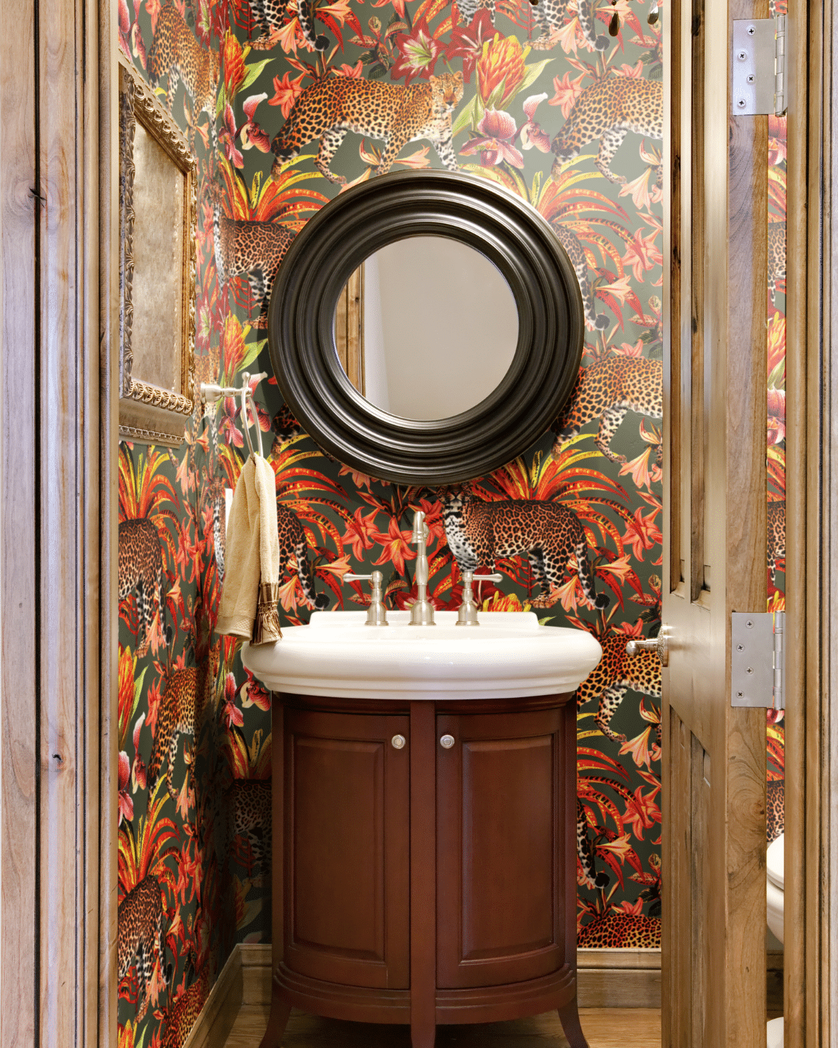 Ready to update your bathroom? Peel and Stick Wallpaper is an easy way to add color and pattern. Try these exclusive prints from SmithHönig.