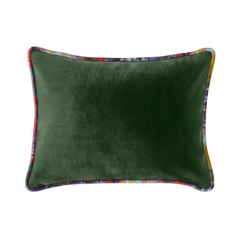 The Luxe - Lumbar Forest Green with Vintage Gypsum Welt