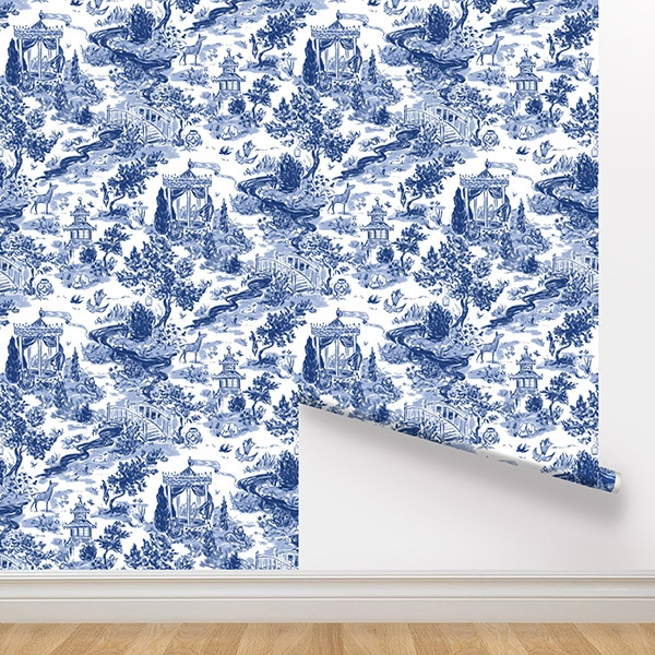 Peel and Stick Wallpaper - Summer House / Navy