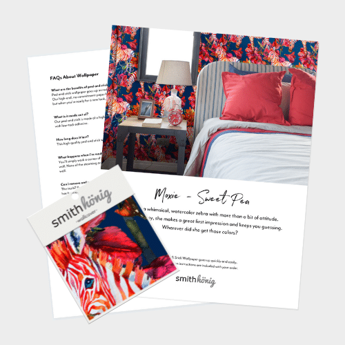 Try before you buy. Order a peel and stick wallpaper sample pack and try SmithHonig's peel and stick wallpaper today. #WallpaperSample