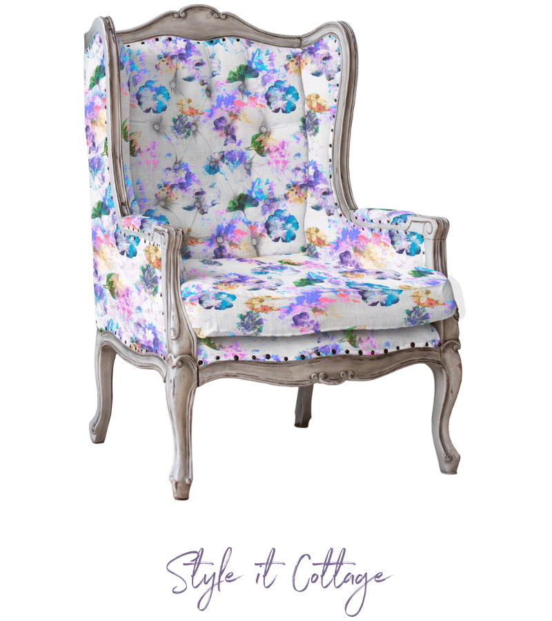 Memory Garden Fabric - This soft floral fabric, in a sturdy cotton/linen blend, will add a touch of modern nostalgia and timelessness to any room.